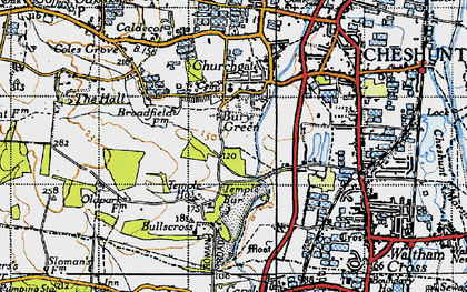 Old map of Bury Green in 1946