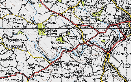 Old map of Buryas Br in 1946