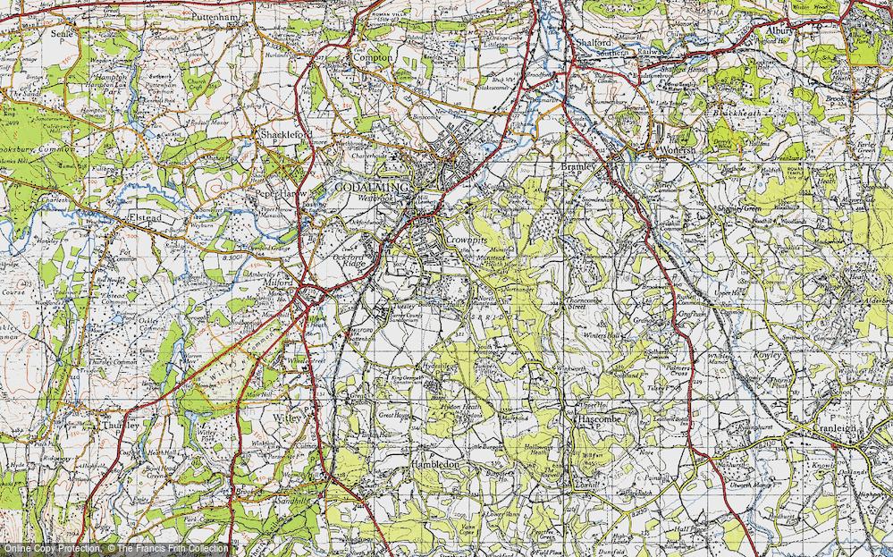 Old Map of Busbridge, 1940 in 1940