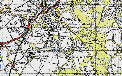 Old map of Busbridge in 1940
