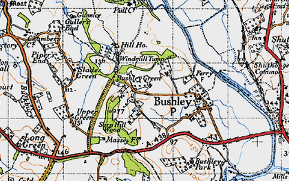 Old map of Windmill Tump in 1947
