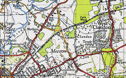 Old map of Bushy Hill in 1940