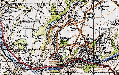Old map of Bussage in 1946