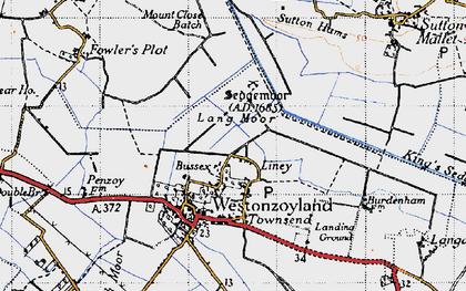 Old map of Lang Moor in 1946