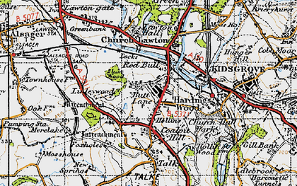 Old map of Linley Hall in 1947