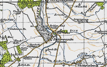 Old map of Aldby Park in 1947