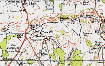 Old map of Ballyack Ho in 1945