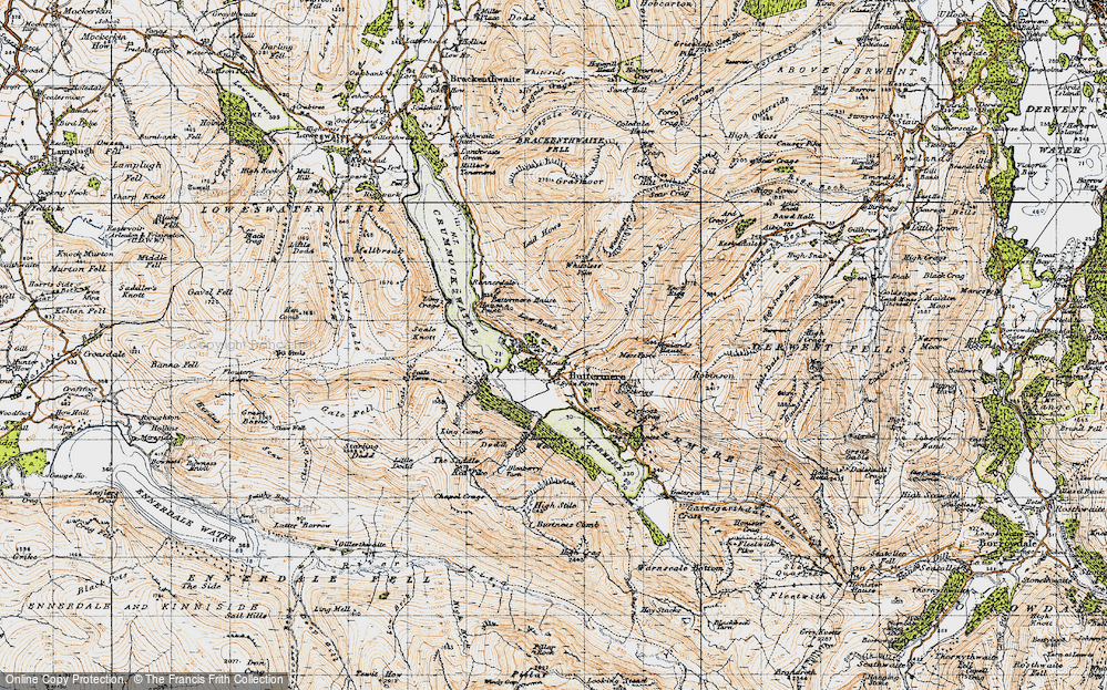 Old Map of Historic Map covering Ling Comb in 1947