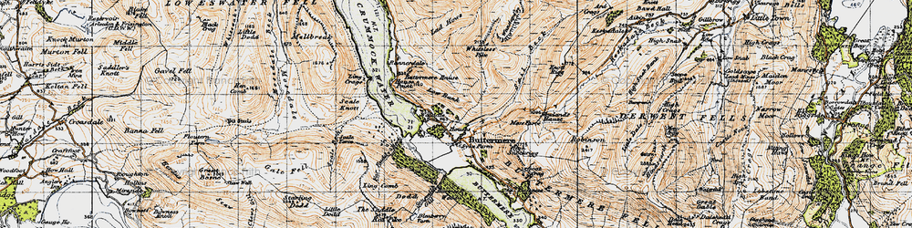 Old map of Whiteless Breast in 1947