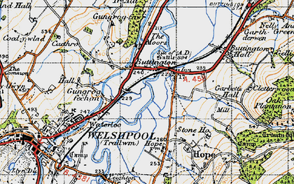 Old map of Buttington in 1947