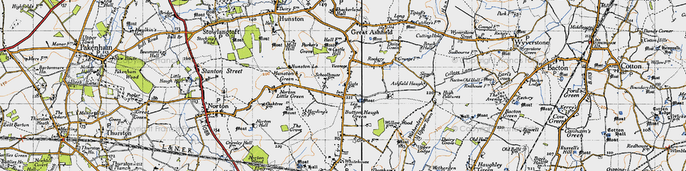 Old map of White Gates in 1946