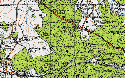 Old map of Winwoods in 1947