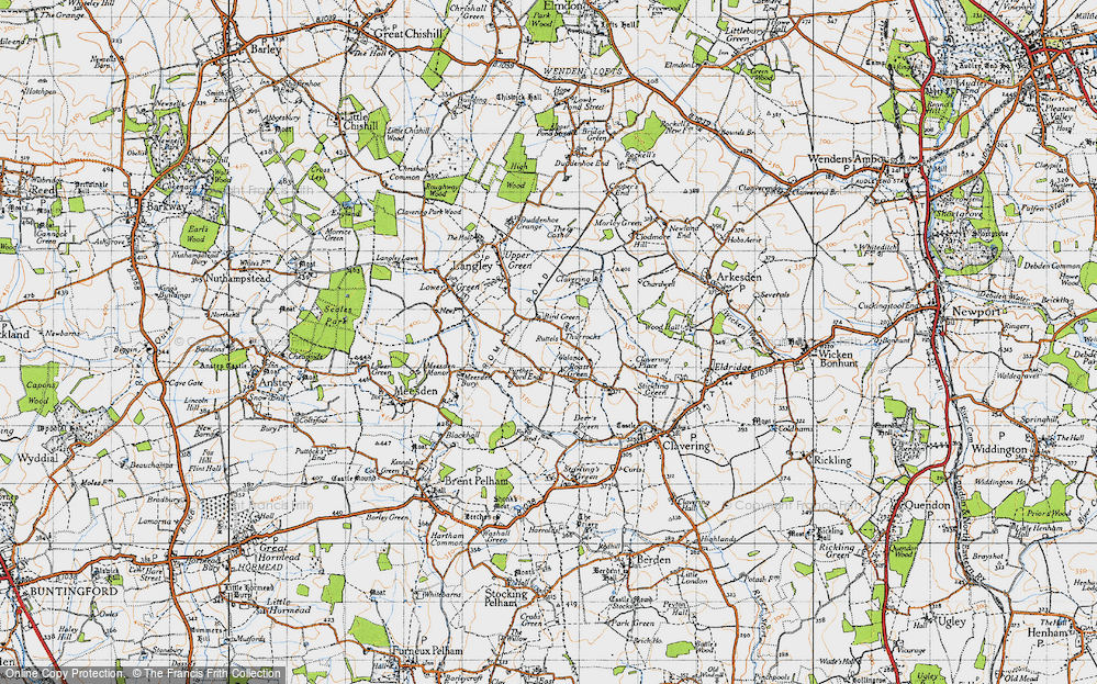 Old Map of Historic Map covering Thurrocks in 1946