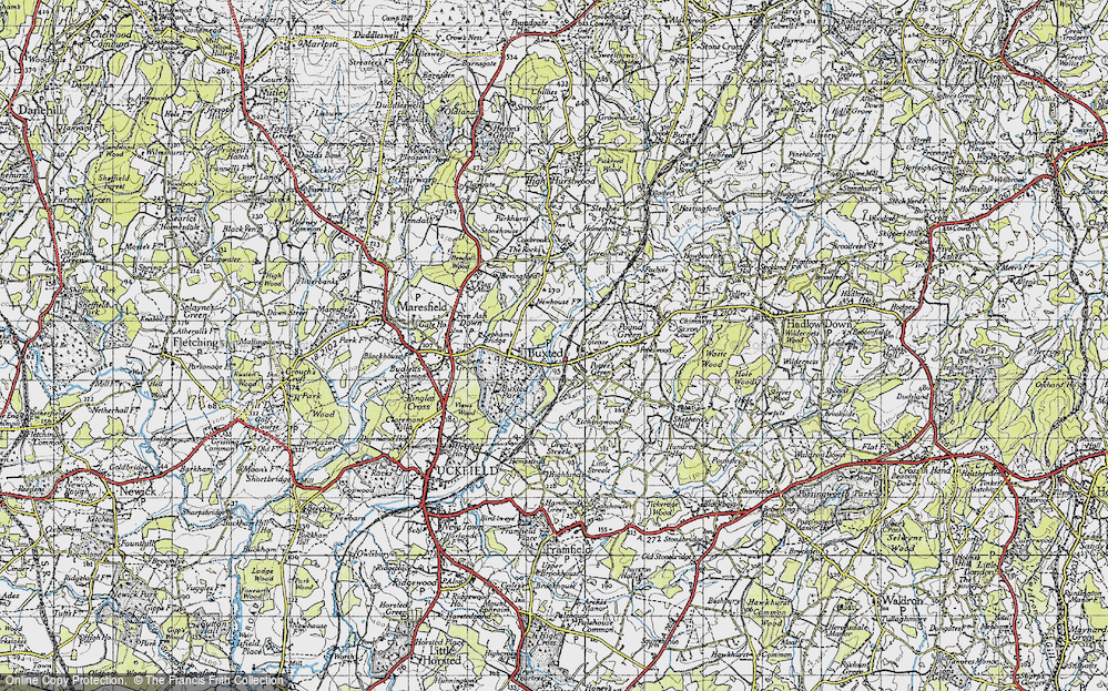 Old Map of Buxted, 1940 in 1940