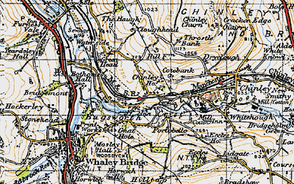 Old map of Buxworth in 1947