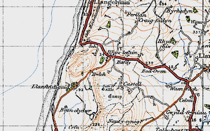 Old map of Bwlch in 1947