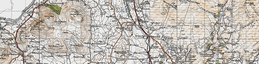 Old map of Y Foel in 1947