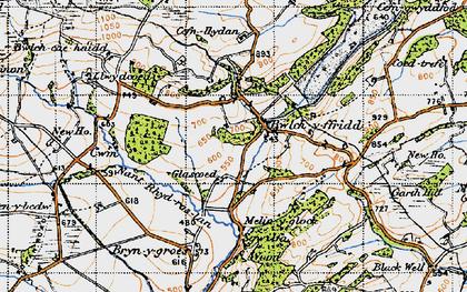 Old map of Bwlch-y-ffridd in 1947
