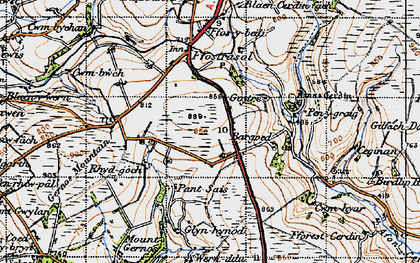 Old map of Bargoed in 1947