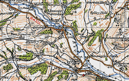 Old map of Bwlch-y-Plain in 1947