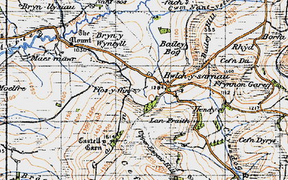 Old map of Bailey Bog in 1947