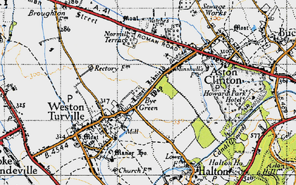 Old map of Bye Green in 1946