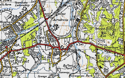 Old map of Byfleet in 1940