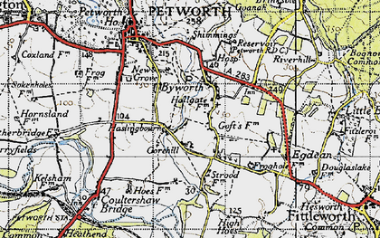 Old map of Byworth in 1940