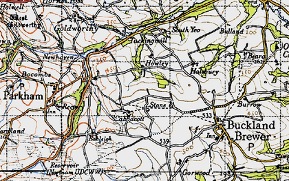 Old map of Babeleigh Barton in 1946