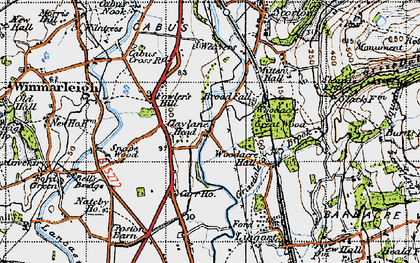 Old map of Lingart in 1947