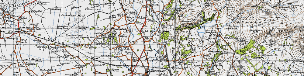 Old map of Woodacre Hall in 1947