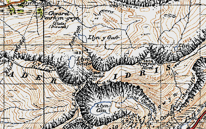 Old map of Cader Idris in 1947