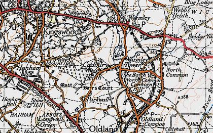 Old map of Cadbury Heath in 1946