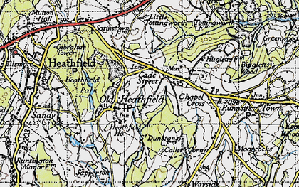 Old map of Cade Street in 1940