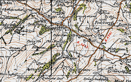 Old map of Cader in 1947
