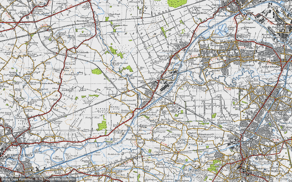Old Map of Cadishead, 1947 in 1947