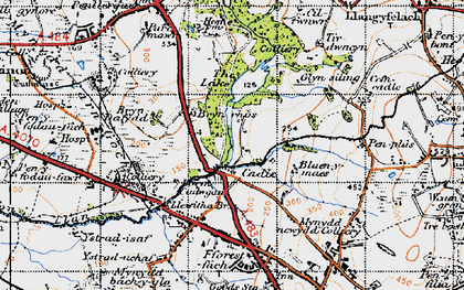 Old map of Cadle in 1947