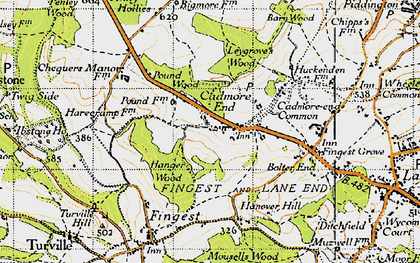 Old map of Leygrove's Wood in 1947