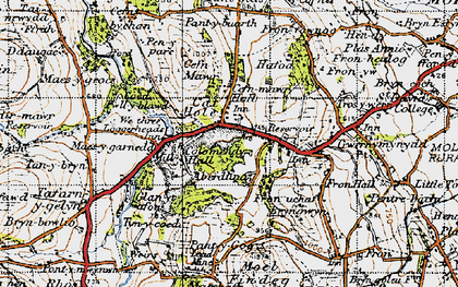 Old map of Cadole in 1947