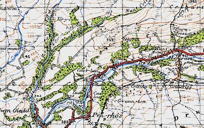 Old map of Cae'r-Lan in 1947