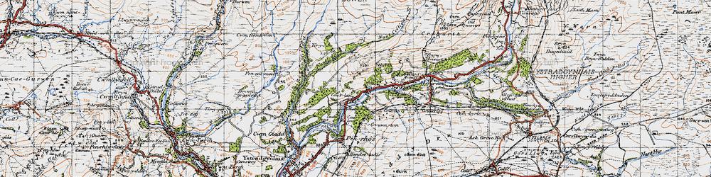 Old map of Tir-y-cwm in 1947