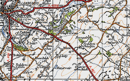 Old map of Ysbytty in 1947