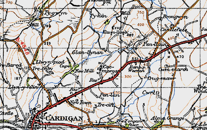Old map of Banc-y-Warren in 1947