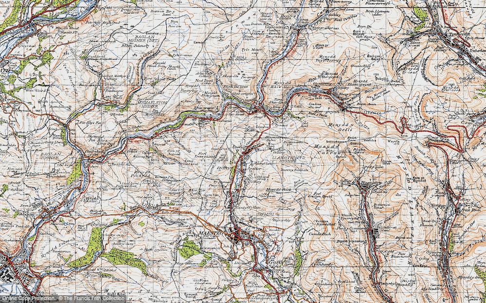 Old Map of Caerau, 1947 in 1947