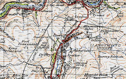 Old map of Caerau in 1947