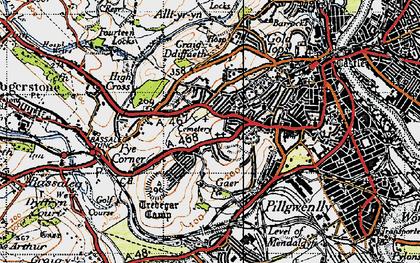 Old map of Caerau Park in 1946