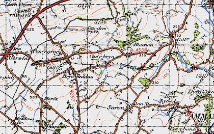 Old map of Caerbryn in 1947