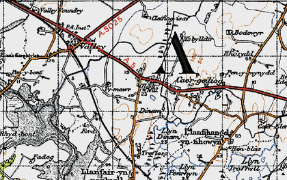 Old map of Ysbylldir in 1947