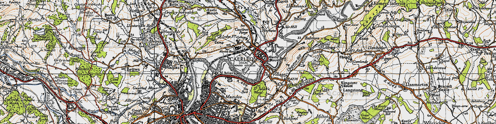 Old map of Caerleon in 1946