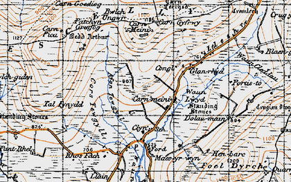 Old map of Afon Tewgyll in 1946